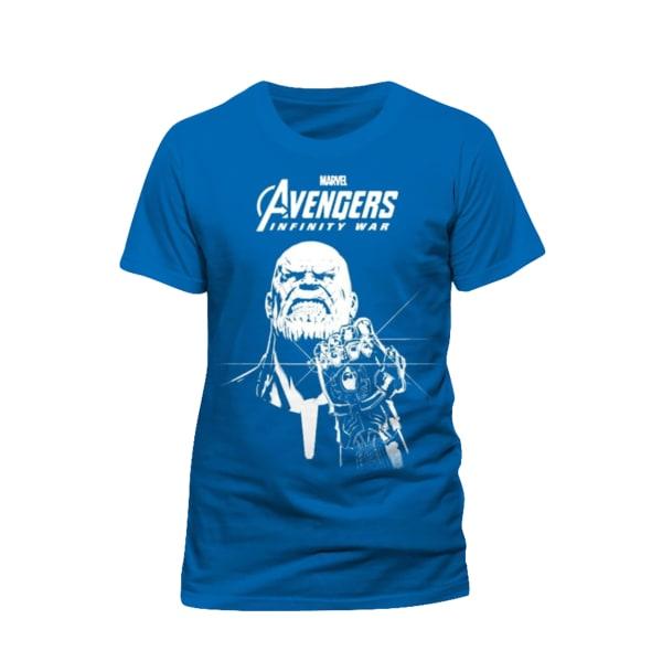 Avengers Unisex vuxna Thanos Design T-shirt XL Blå