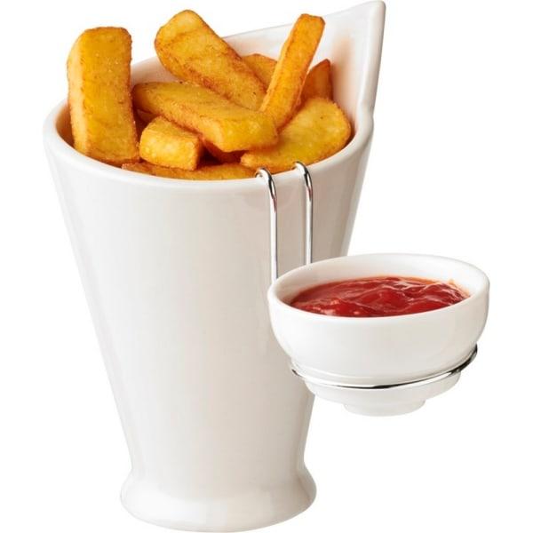 Avenue Chase Fries och såshållare One Size Vit