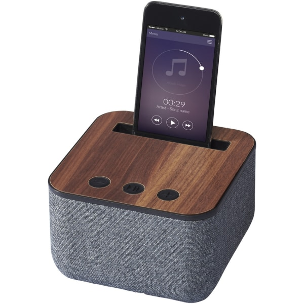 Avenue Shae Fabric And Wood Bluetooth-högtalare One Size Brun /