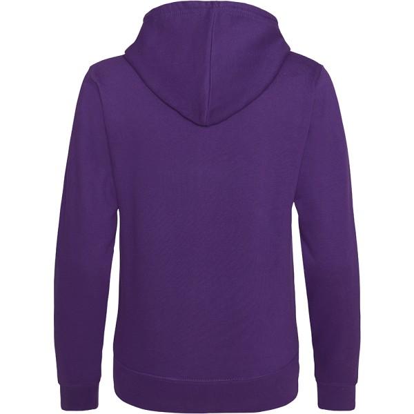 Awdis Girlie Damer / Hooded Sweatshirt / Hoodie / Zoodie S Lila