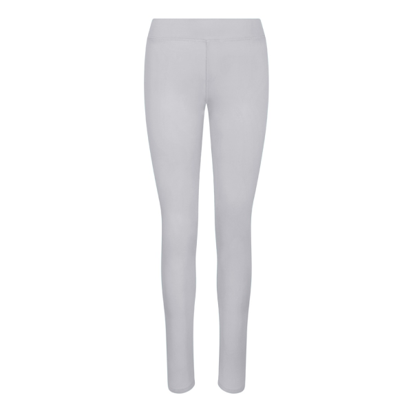 AWDis Just Cool Womens Girlie Workout Leggings L Silver