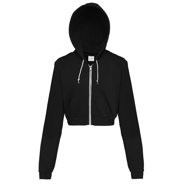Awdis Just Hoods Dam / Girlie Cropped Hoodiejacka med full dragk