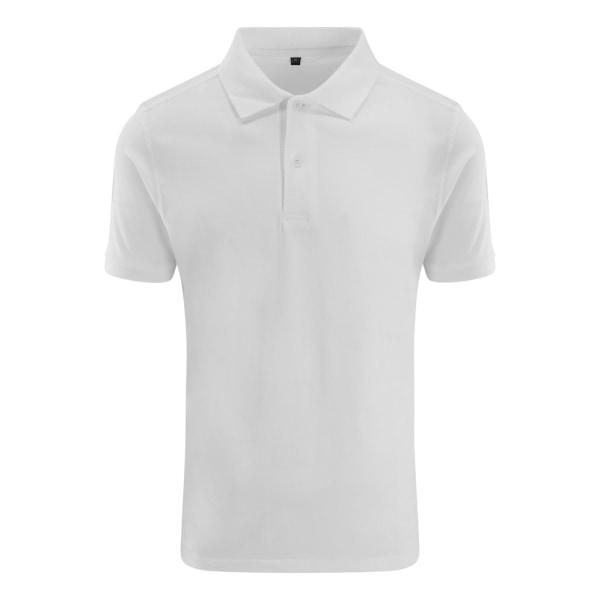 AWDis Just Polos Herr Stretch Pique Polo Shirt XXL Vit