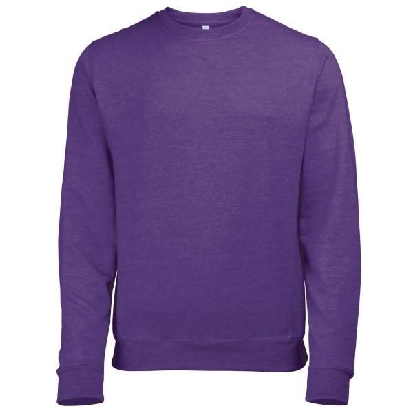 Awdis Mens Heather Lätt Crew Neck Sweatshirt L Purple Hea