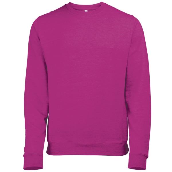 Awdis Mens Heather Lightweight Crew Neck Sweatshirt L Pink Heath