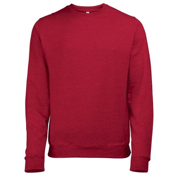 Awdis Mens Heather Lightweight Crew Neck Sweatshirt S Red Heathe