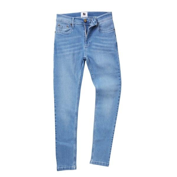 AWDis Så Denim Mens Max Slim Fit Jeans 36/R Lätt tvätt