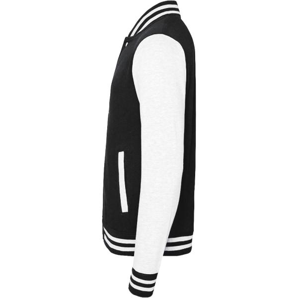 Awdis Unisex Varsity Jacka L Jet svart / vit