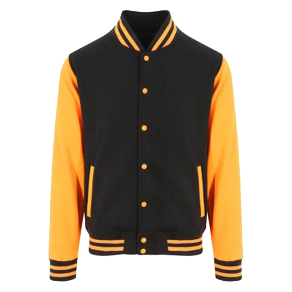 Awdis Unisex Varsity Jacka S Jet Black / Orange Crush
