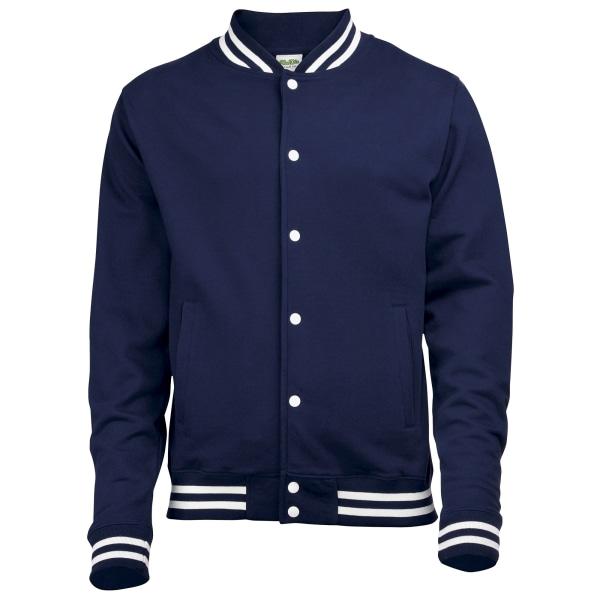 Awdis Adults Unisex College Varsity Jacket L Oxford Navy