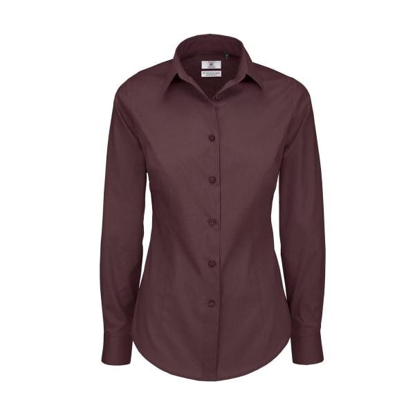 B&C Svart Tie Formell långärmad arbetsskjorta för kvinnor /