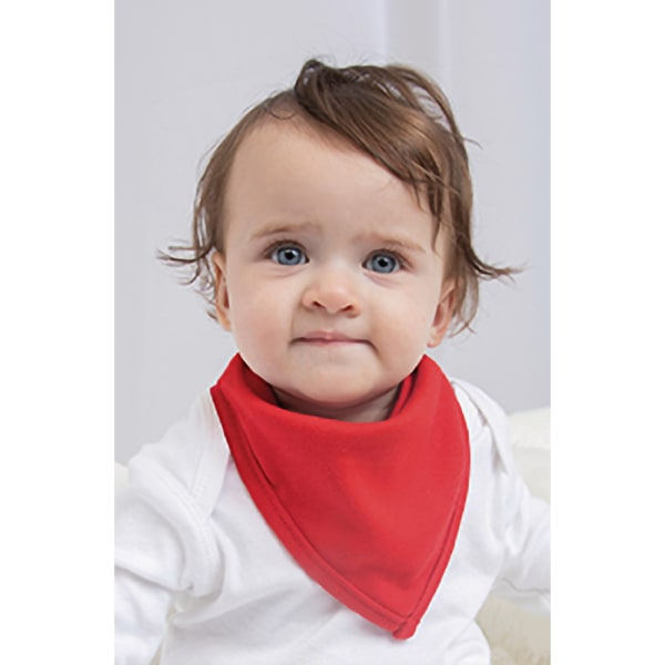 Babybugz Baby Plain Bandana Haklapp One Size Vit röd