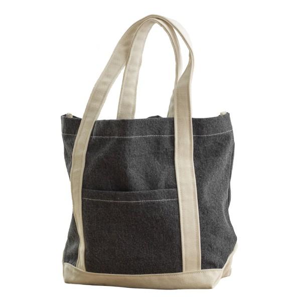 Bags By Jassz Canvas Denim Shopper One Size Svart stentvätt / be