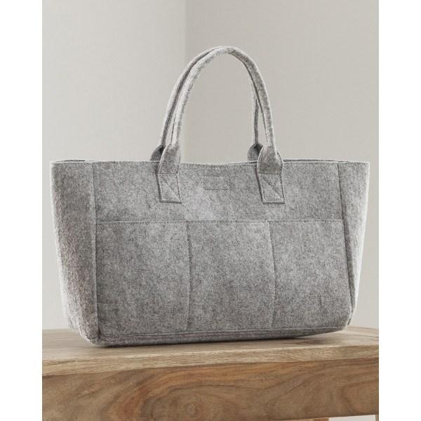 Bags By Jassz Pocket Filt Shopper One Size Cool Grey Melange