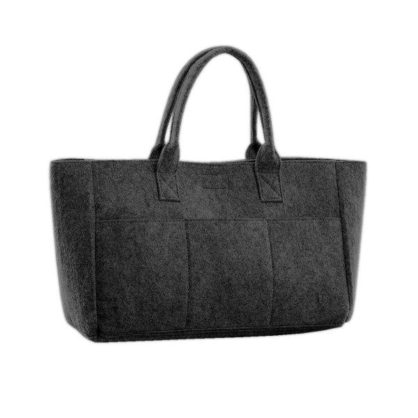 Bags By Jassz Pocket Filt Shopper One Size Kolgrå
