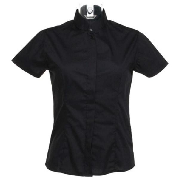 BARGEAR Kortärmad mandarin krage bar shirt 20 Svart