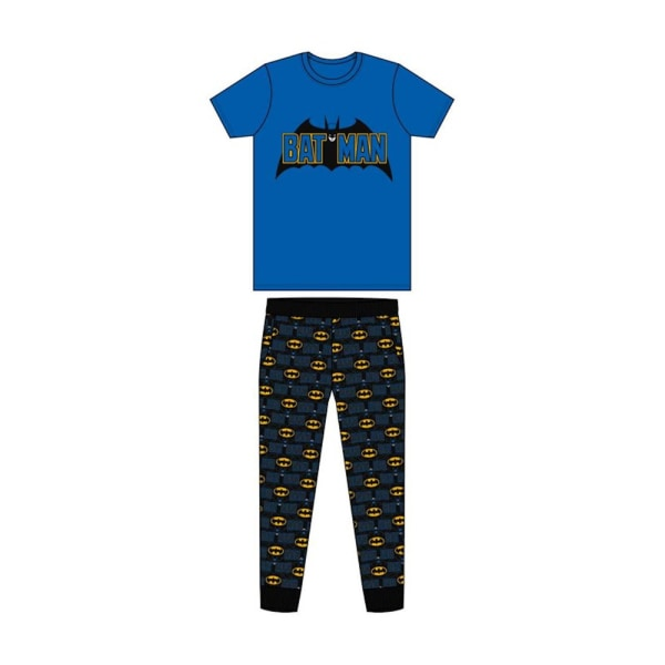 Batman Fladdermus signal kortärmad pyjamas L Blå svart