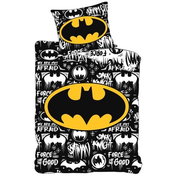 Batman Täcke set Single Svart / Gul / Vit