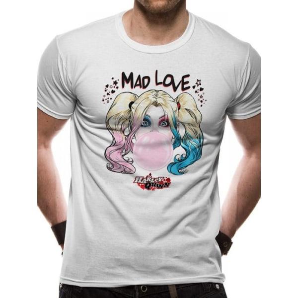 Batman Unisex vuxna Harley Quinn Mad Love Design T-shirt XXL Vit