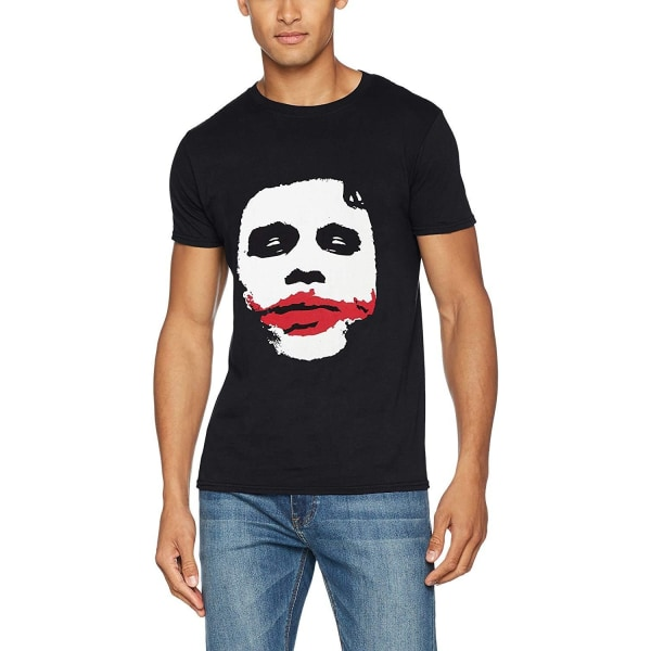 Batman Unisex Vuxna Joker Big Face T-shirt S Svart
