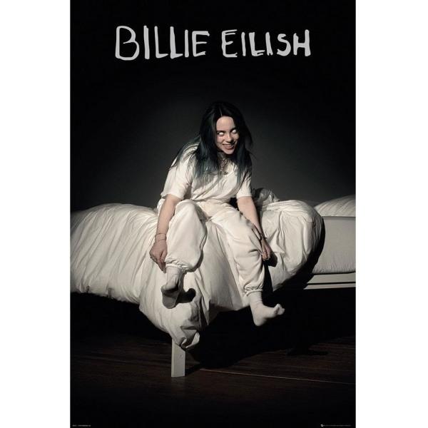 Billie Eilish Affisch 61 x 91cm Svart vit