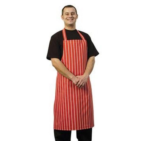 BonChef Slaktare förkläde i full längd (paket med 2) One Size Rö