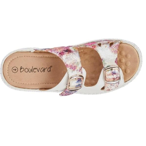 Boulevard Dam- / damblommor med tvillingspänne Mule Sandal 8 UK