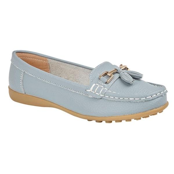 Boulevard Dam / Damer Action Leather Tassle Loafers 4 UK Baby bl Baby Blue 4 UK