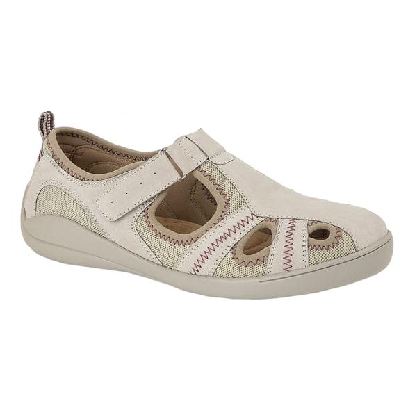 Boulevard Dam / läder / textil casual skor 5 UK Grå