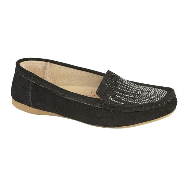 Boulevard Damförkläde Diamante Casual Slip On Shoes 5 UK Svart Black 5 UK