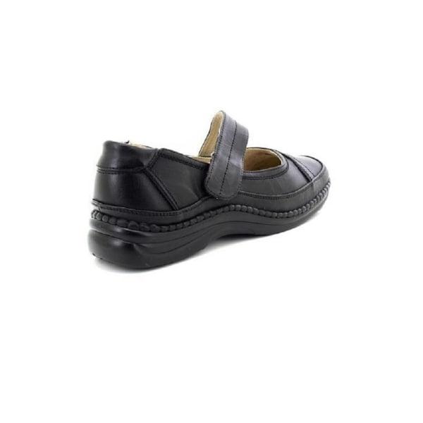 Boulevard Kvinnor / damer extra bred EEE-passande Mary Jane-skor Black 6 UK