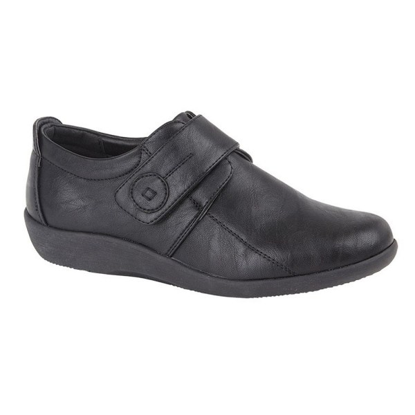 Boulevard Kvinnor / damer X bred EE Fit Touch Fastening Bar Shoe Black 3 UK