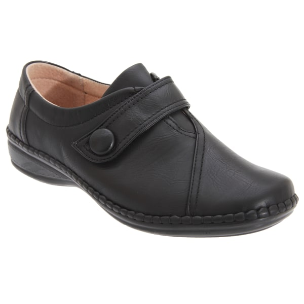 Boulevard Kvinnor / damer XXX Wide Touch Fastening Bar Shoes 6 U Black 6 UK