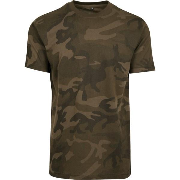 Build Your Brand Camouflage T-shirt för herrar M Olive Camo