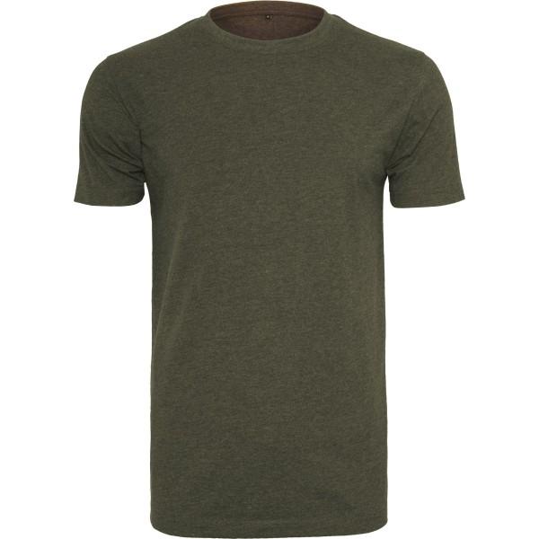 Build your Brand Herr T-shirt Rund hals M Oliv