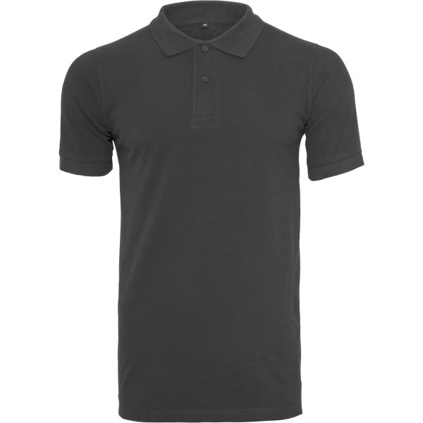 Build Your Brand Poloskjorta för män med piké 2XL Svart