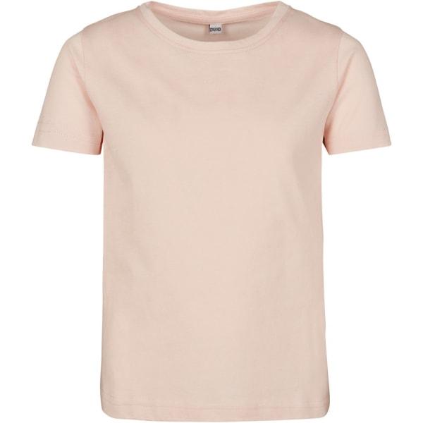 Build Your Brand T-shirt med kort ärm för flickor 7-8 Years Rosa