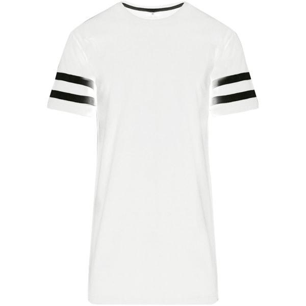Build Your Brand Unisex Stripe Jersey kortärmad T-shirt XL Vit s