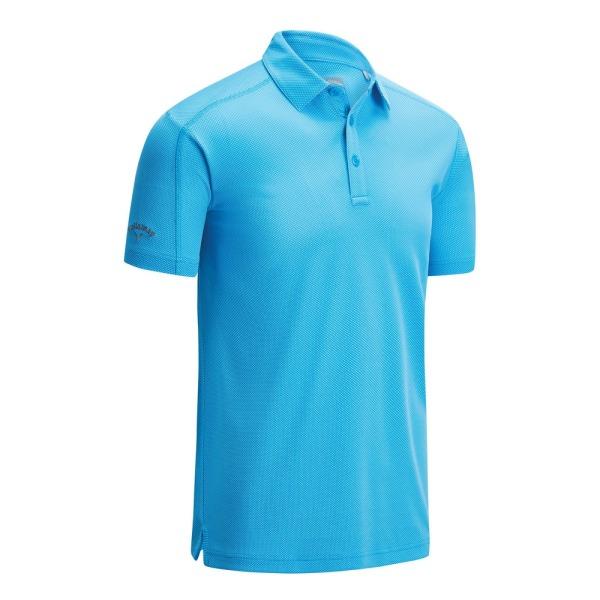Callaway Denim Jacquard Polo T-shirt M Spring Break Sapphire