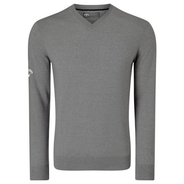 Callaway Herr Ribbed V Neck Merino Sweater XL Grip