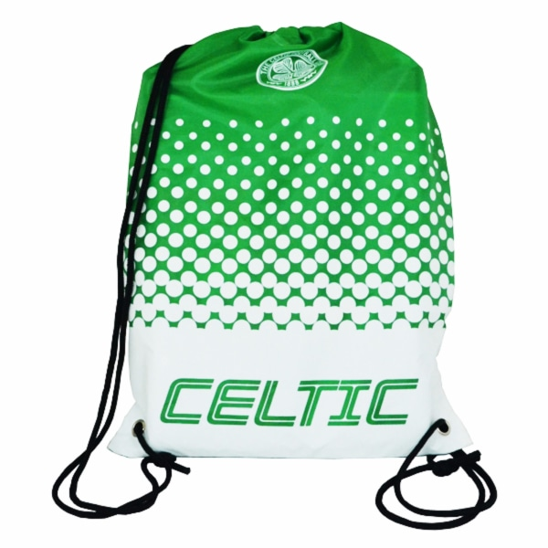 Celtic FC Officiell Fade Crest Design Gymbag One Size Grön / Vit
