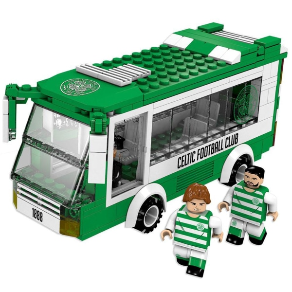 Celtic FC Team Bus Building Bricks Set One Size Grön / Vit