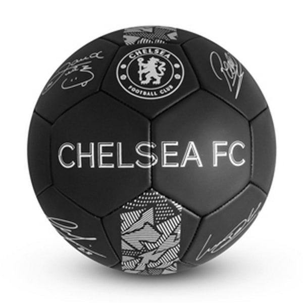 Chelsea FC Phantom Signature Football 5 Svart / Vit
