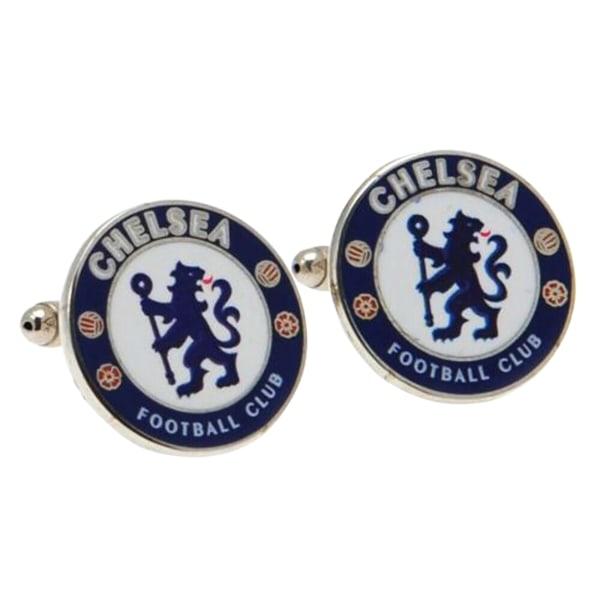 Chelsea FC Mans officiella Metal Football Crest manschettknappar