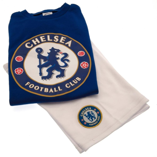 Chelsea FC T-shirt för barn / barn och kort set 6-9 Months Blå v