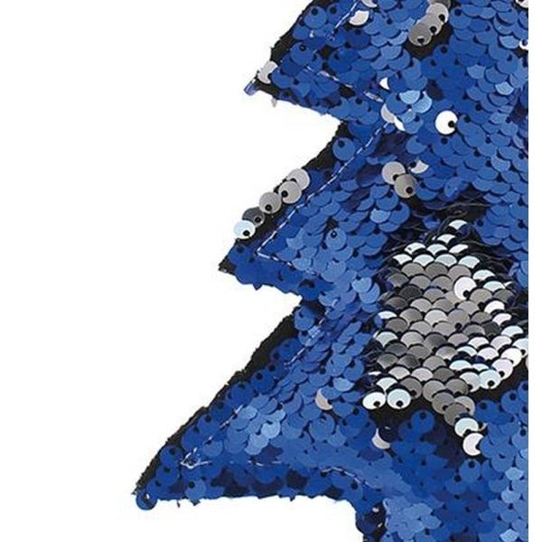 Christmas Shop 17,5 cm vändbar paljettträd One Size Blå / Silver