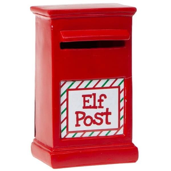 Christmas Shop Elf Postbox Tillbehör One Size Röd