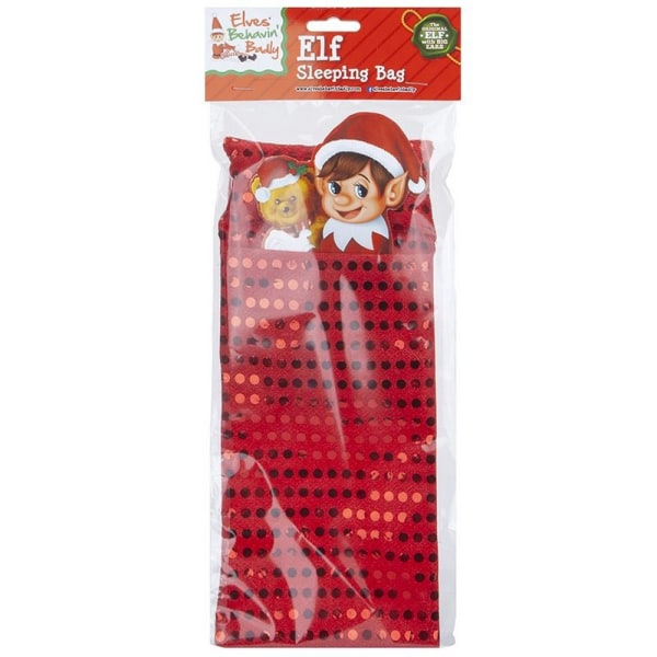 Christmas Shop Elf Sequin Sovsäck Tillbehör One Size Röd