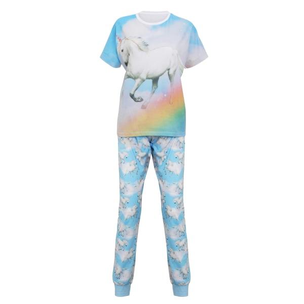 Christmas Shop Unicorn pyjamas för damer / damer M/L Ljusblå enh