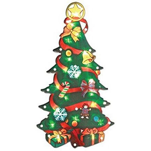 Christmas Workshop Christmas Tree Silhouette Metallic Window LED